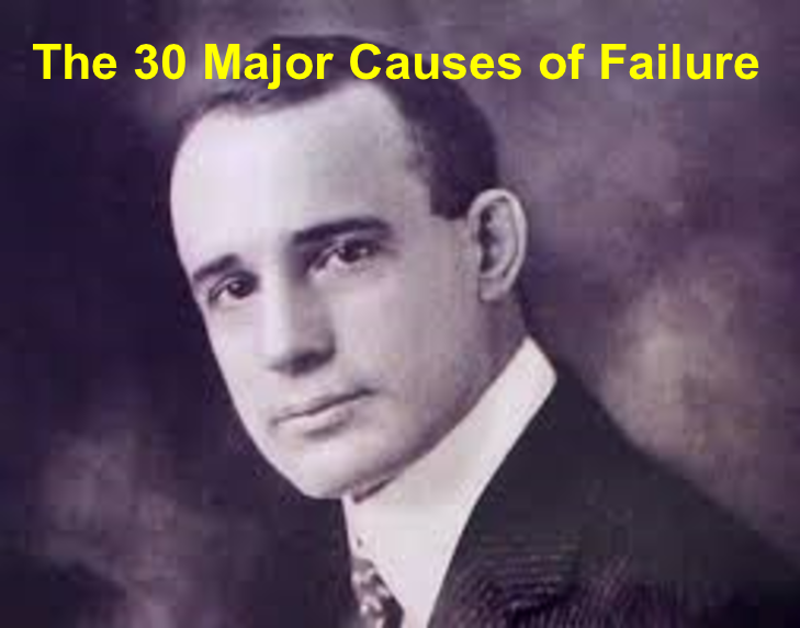 30 major causes of failure